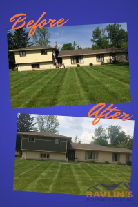 Ravlin's Exterior Paint Before and After